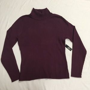 A.N.A Maroon Turtle Neck Top NWT